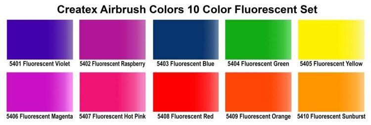 Ab 10 Color Fluorescent Set