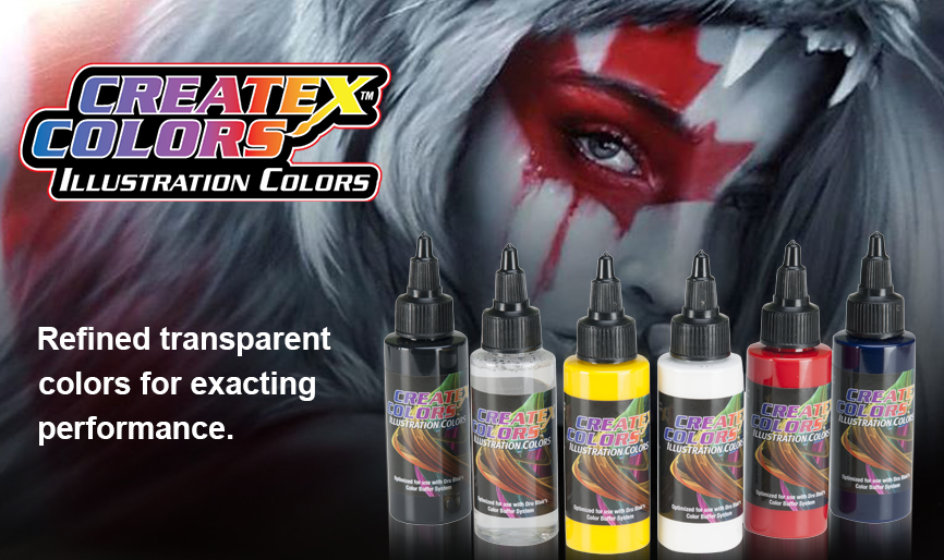 Createx Colors Illustrations Airbrush Paints
