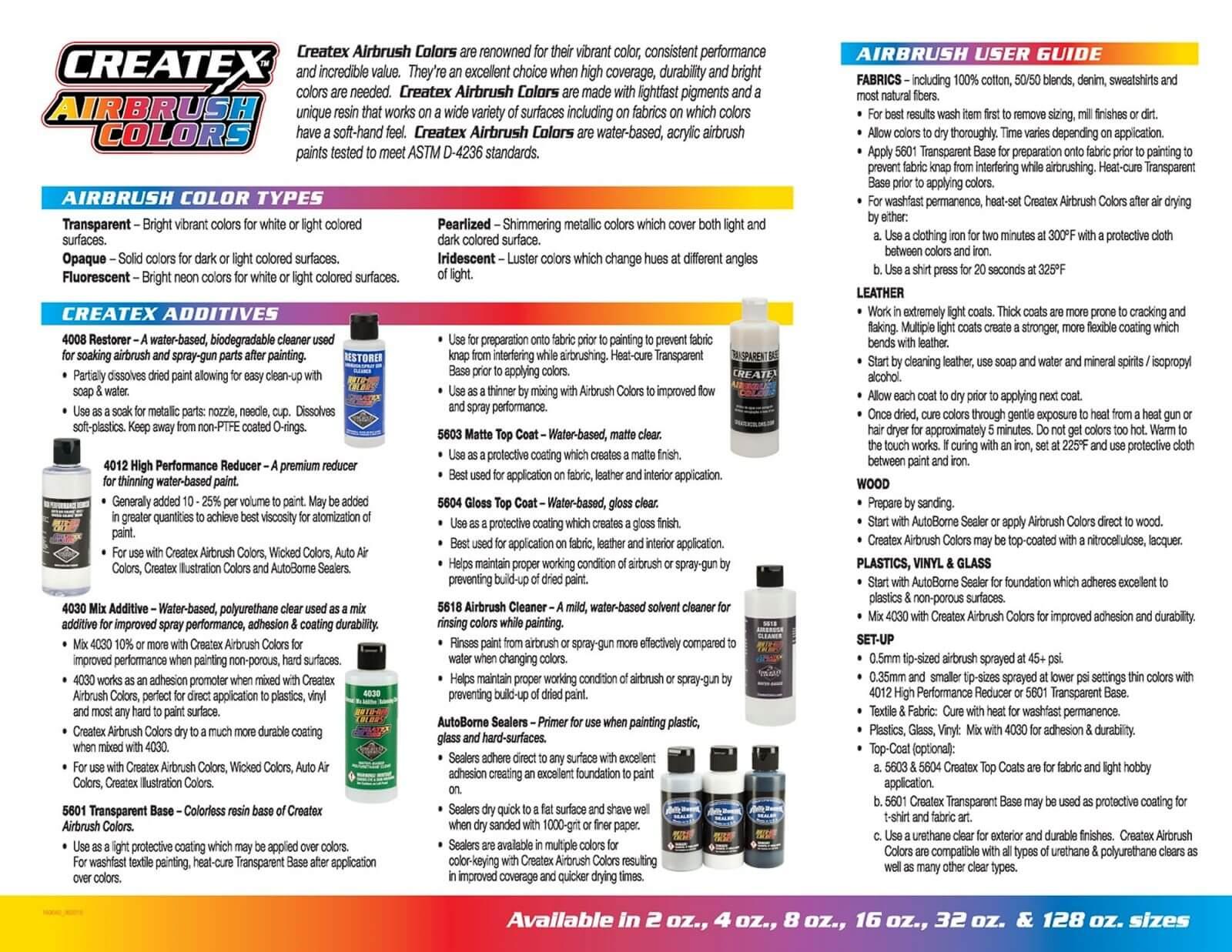 how to use createx airbrush paint
