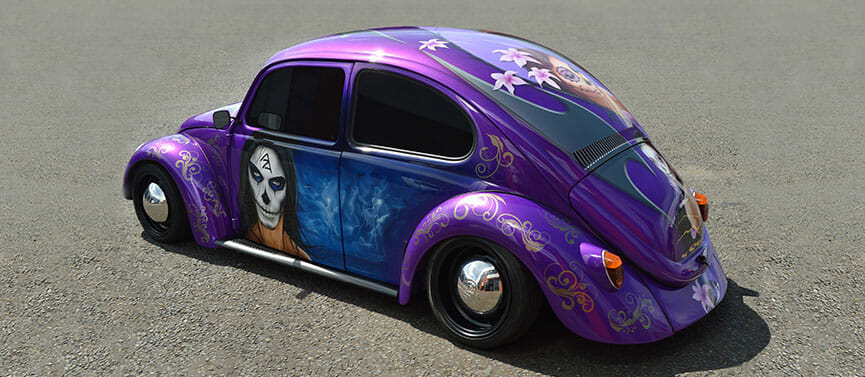 airbrush painting on VW