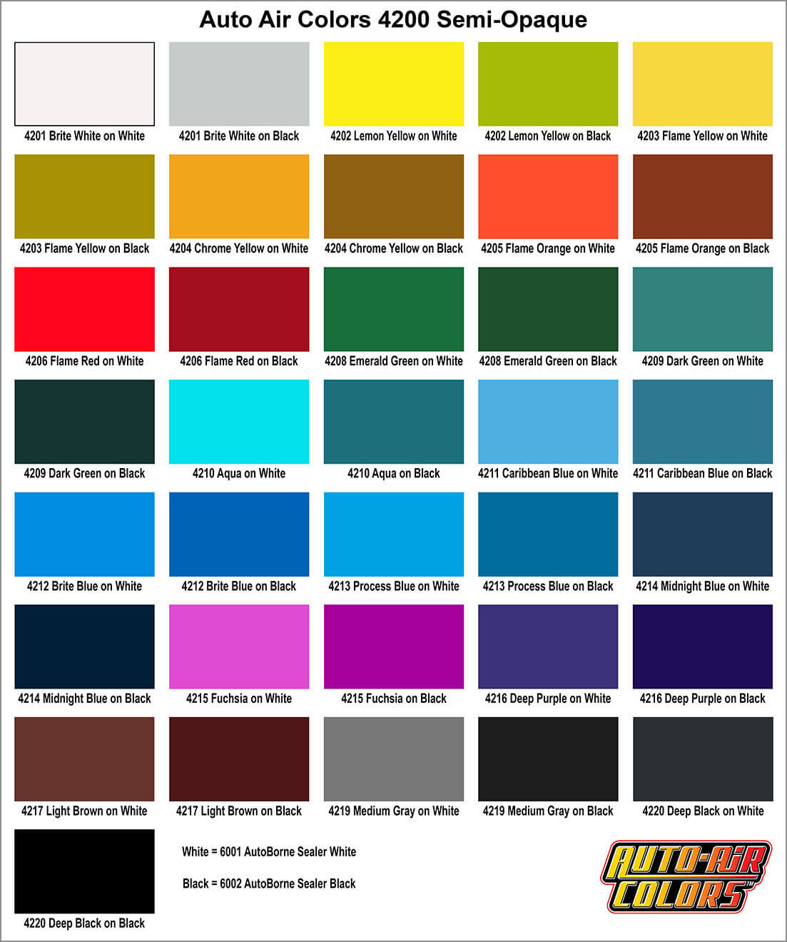 Auto air color charts airbrush paint direct nvjuhfo Choice Image